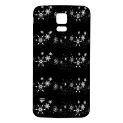 Black elegant  Xmas design Samsung Galaxy S5 Back Case (White)