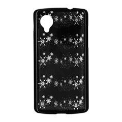 Black elegant  Xmas design Nexus 5 Case (Black)