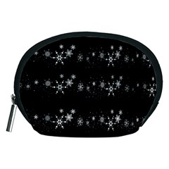 Black elegant  Xmas design Accessory Pouches (Medium)