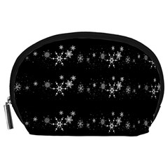 Black elegant  Xmas design Accessory Pouches (Large)