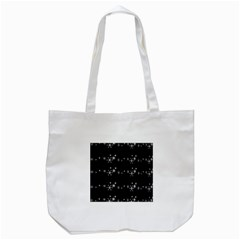 Black elegant  Xmas design Tote Bag (White)