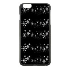 Black elegant  Xmas design Apple iPhone 6 Plus/6S Plus Black Enamel Case