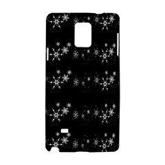 Black elegant  Xmas design Samsung Galaxy Note 4 Hardshell Case