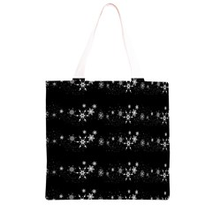 Black elegant  Xmas design Grocery Light Tote Bag
