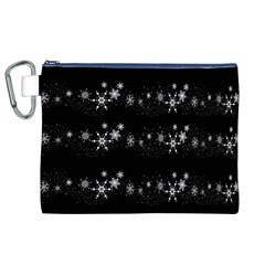 Black elegant  Xmas design Canvas Cosmetic Bag (XL)