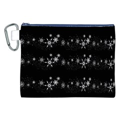 Black elegant  Xmas design Canvas Cosmetic Bag (XXL)