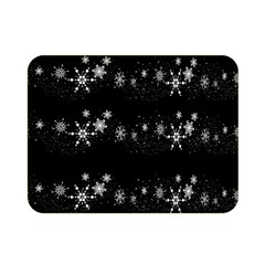 Black elegant  Xmas design Double Sided Flano Blanket (Mini)