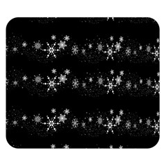 Black elegant  Xmas design Double Sided Flano Blanket (Small)