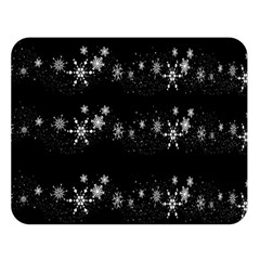 Black elegant  Xmas design Double Sided Flano Blanket (Large)