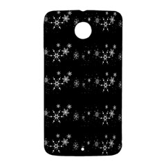 Black elegant  Xmas design Nexus 6 Case (White)