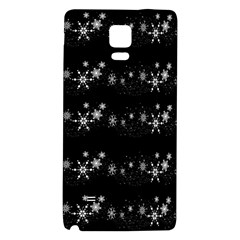Black elegant  Xmas design Galaxy Note 4 Back Case