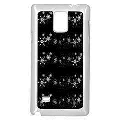 Black elegant  Xmas design Samsung Galaxy Note 4 Case (White)