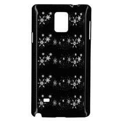 Black elegant  Xmas design Samsung Galaxy Note 4 Case (Black)