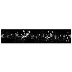 Black elegant  Xmas design Flano Scarf (Small)