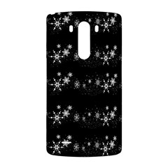 Black elegant  Xmas design LG G3 Back Case