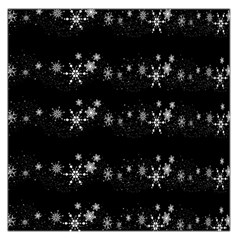 Black elegant  Xmas design Large Satin Scarf (Square)
