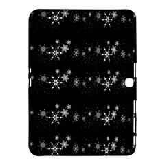 Black elegant  Xmas design Samsung Galaxy Tab 4 (10.1 ) Hardshell Case