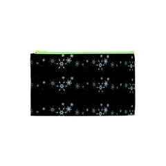 Black elegant  Xmas design Cosmetic Bag (XS)