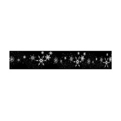 Black elegant  Xmas design Flano Scarf (Mini)