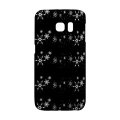 Black elegant  Xmas design Galaxy S6 Edge