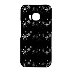 Black elegant  Xmas design HTC One M9 Hardshell Case