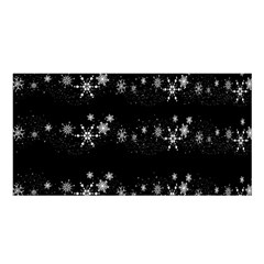 Black elegant  Xmas design Satin Shawl