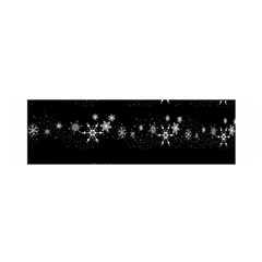 Black elegant  Xmas design Satin Scarf (Oblong)