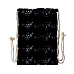 Black elegant  Xmas design Drawstring Bag (Small)
