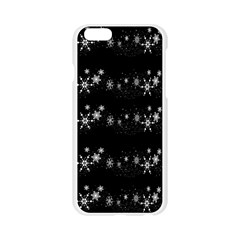 Black elegant  Xmas design Apple Seamless iPhone 6/6S Case (Transparent)