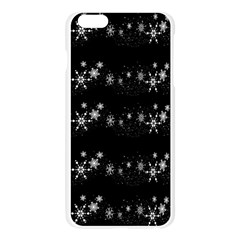 Black elegant  Xmas design Apple Seamless iPhone 6 Plus/6S Plus Case (Transparent)
