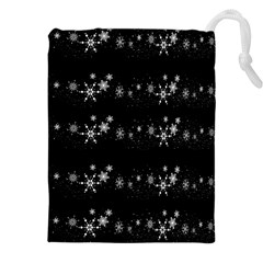 Black elegant  Xmas design Drawstring Pouches (XXL)
