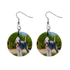 Bedlington Terrier Full Mini Button Earrings