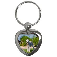 Bedlington Terrier Full Key Chains (Heart)