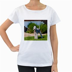 Bedlington Terrier Full Women s Loose-Fit T-Shirt (White)