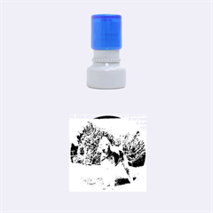 Bedlington Terrier Full Rubber Round Stamps (Small)