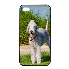 Bedlington Terrier Full Apple iPhone 4/4s Seamless Case (Black)