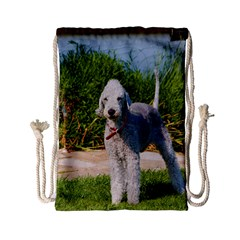 Bedlington Terrier Full Drawstring Bag (Small)