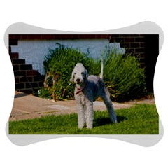 Bedlington Terrier Full Jigsaw Puzzle Photo Stand (Bow)