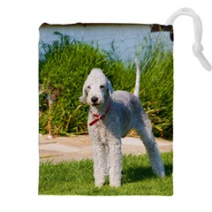 Bedlington Terrier Full Drawstring Pouches (XXL)