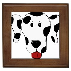 Dalmation cartoon head Framed Tiles