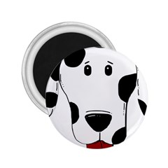 Dalmation cartoon head 2.25  Magnets