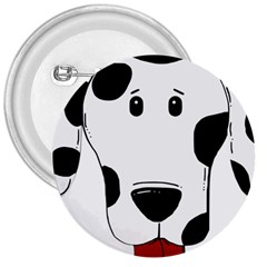 Dalmation cartoon head 3  Buttons