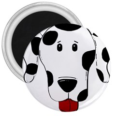 Dalmation cartoon head 3  Magnets