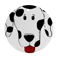 Dalmation cartoon head Ornament (Round)