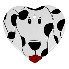 Dalmation cartoon head Ornament (Heart)