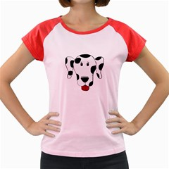 Dalmation cartoon head Women s Cap Sleeve T-Shirt
