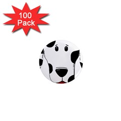 Dalmation cartoon head 1  Mini Magnets (100 pack)