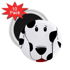 Dalmation cartoon head 2.25  Magnets (10 pack)