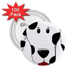 Dalmation cartoon head 2.25  Buttons (100 pack)