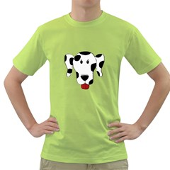 Dalmation cartoon head Green T-Shirt
